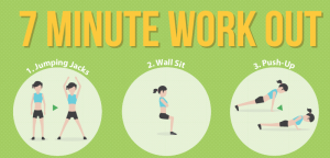 7 min. workout via Tribe Sports
