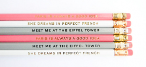 Paris Pencils via Amanda Catherine Designs