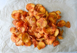BBQ sweet potato chips via How Sweet It Is