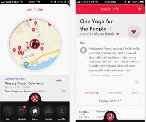 Get your OM on with Lululemon's OM finder app