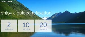 Guided Meditation via Calm.com