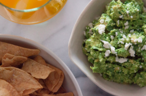 Spicy Cheesy Guacamole from Gaby Dalkin of What's Gaby Cooking
