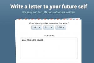 Write a letter to your future self via ohlife