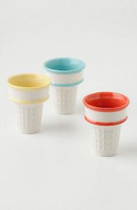 ceramic Ice cream cone holders from Anthropologie