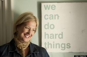 Brené Brown Interview via Huffington Post image via Origin Magazine