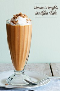 Banana Pumpkin Breakfast Milkshake by Dine and Dish