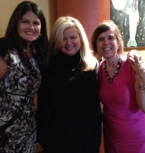 Jodi Salata, Sheri Salata and Debbie Phillips behind the scenes at HARPO