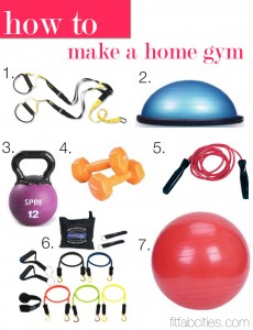 How to make an at home gym via Fit Fab Cities