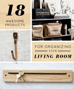18 Awesome product for organizing your living room via Design Sponge