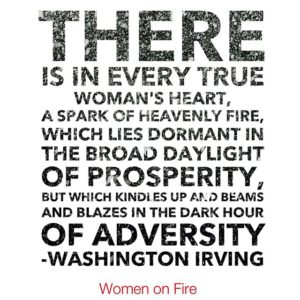 Feed the fuel to your dreams with Women on Fire- www.womenonfire.com