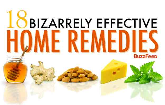 18 bizarrely effective home remedies from Buzzfeed
