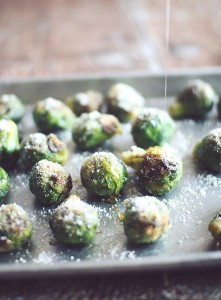 Honey Parmesan Roasted Brussels Sprouts via Dashing Dish