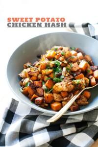 Sweet Potato Chicken Hash via Hungry GIrl Por Vida