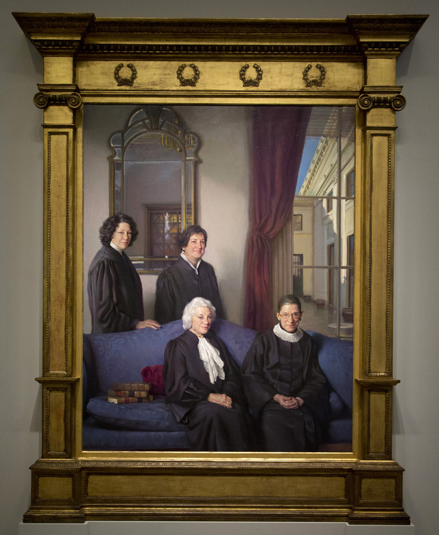 The Female Supreme Court Justices are looking Sassy- Women on Fire couldn't love this painting more!