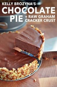 Kelly Brozyna's Chocolate Pie + Raw Graham Cracker Crust from NomNom Paleo