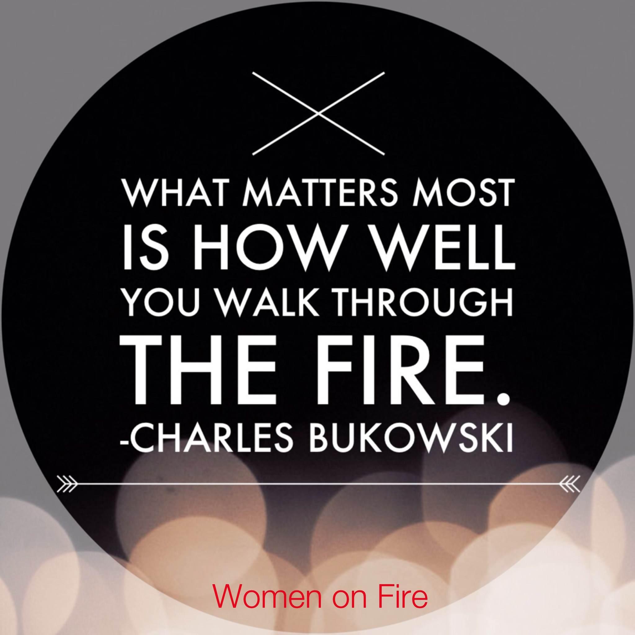 How well do you walk through the fire- womenonfire.com