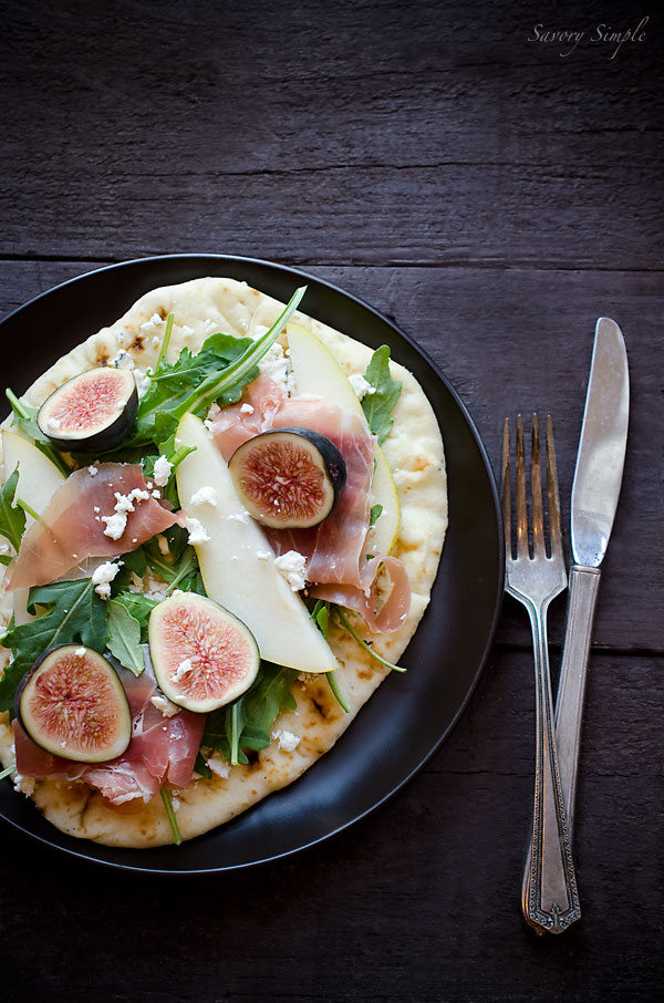 Fig Pear Prosciutto Tartine from Jennifer Farley at Savory Simple