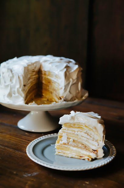 Coconut Crepe Cake by Michelle from Hummingbird High blog