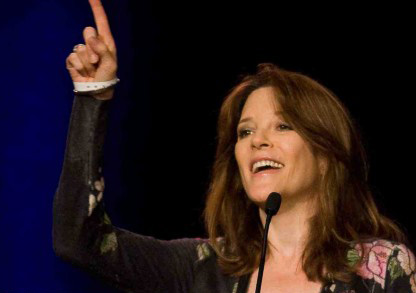 Marianne Williamson #10 on Women on Fire's list of the 10 Women who set 2013 On Fire