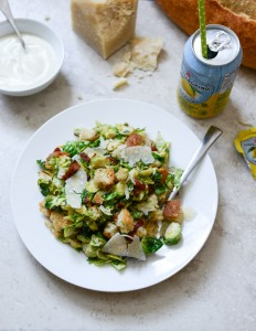 Brusssels Cesar Salad from How Sweet It Is