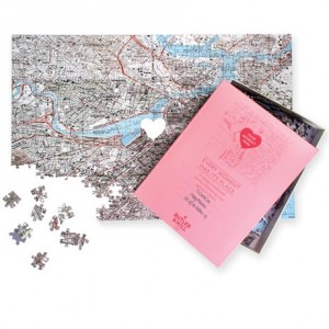Personalized where we met puzzle from RedEnvelope
