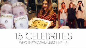 15 celebrities that instagram like us via Vogue