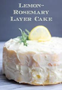 Lemon Rosemary Layer Cake by Baker Bettie