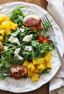 Sea Scallops and Arugula Beet Salad via Skinny Taste