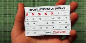 30 challenges for 30 days via high existence
