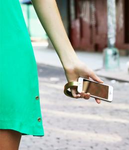 Q Designs wearable smart phone charger bracelet