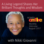 August 2017 Sneak Peek Interview with Nikki Giovanni